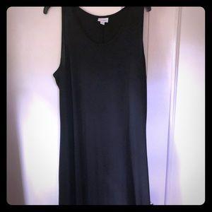 EUC LuLaRoe Dani Tank Dress - solid black!